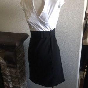1 piece white top with skirt